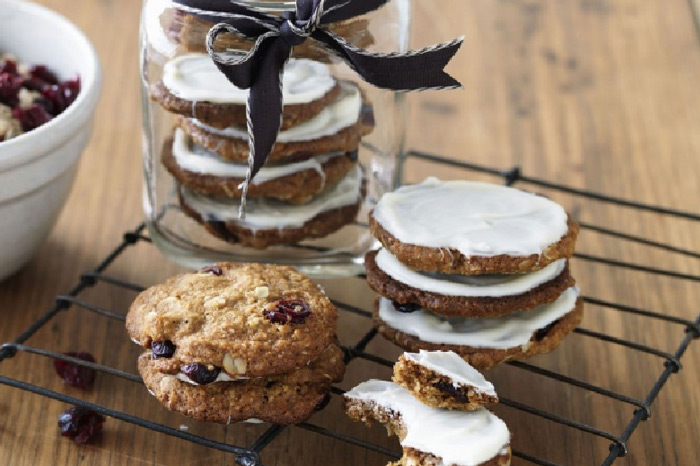 Cranberry and white chocolate Anzac biscuits