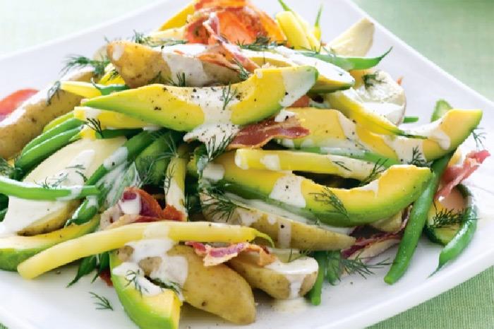 Potato and avocado salad