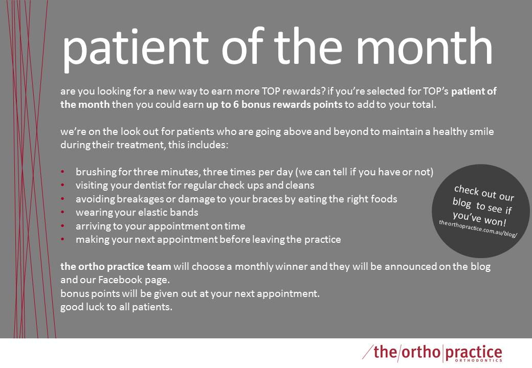 patient of the month poster